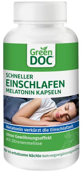 GreenDoc Schneller Einschlafen Melatonin Kapseln