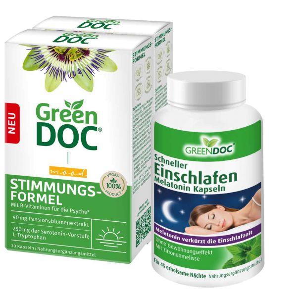 GreenDoc Tag und Nacht Vorteilspaket Stimmungsformel und Schneller Einschlafen