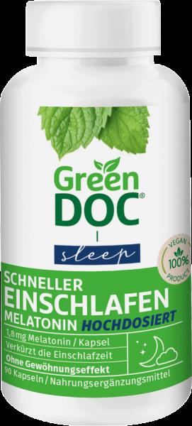 GreenDoc Schneller Einschlafen Melatonin hochdosiert